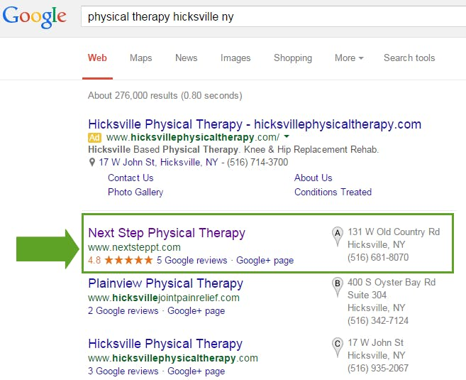 seo for physical therapy clinics
