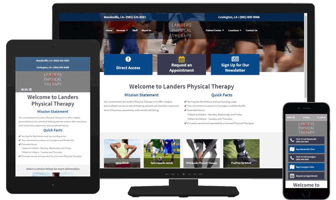 responsive physical therapy website designs