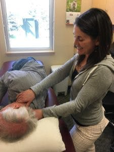 Carmen, our 2017 Regis University DPT student, refining her manual therapy skills