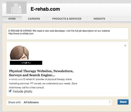 Linked in for physical therapy practice recruiting