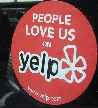 yelp window sticker