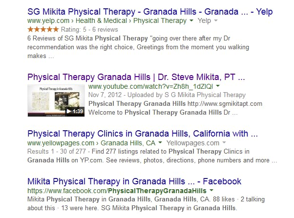 video seo or vseo picture of google search results page with youtube video on it