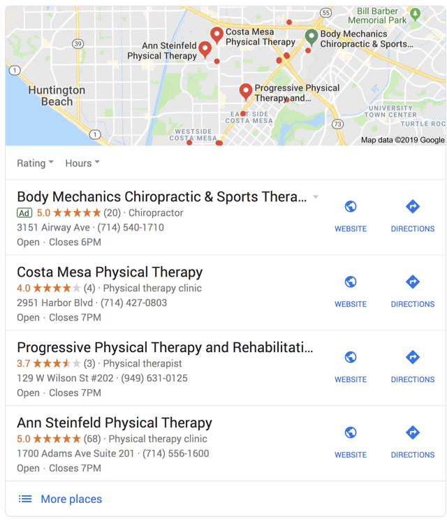 physical therapy seo