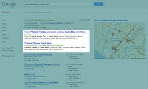 Natural/Organic Search on Google