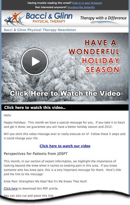 Patient Video Email Sample