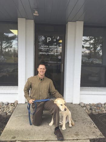 Owner Brad with his dog