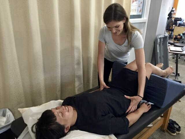 Melissa Jesski PT, DPT with patient