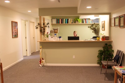 front desk and waiting area