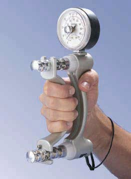 PT assessment Jamar hydraulic hand dynamometer