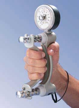 PT assessment Jamar hydraulic hand dynamometer