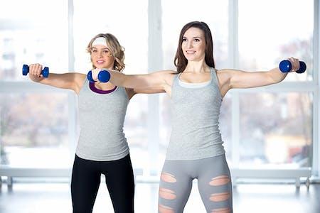 Women doing shoulder exercises