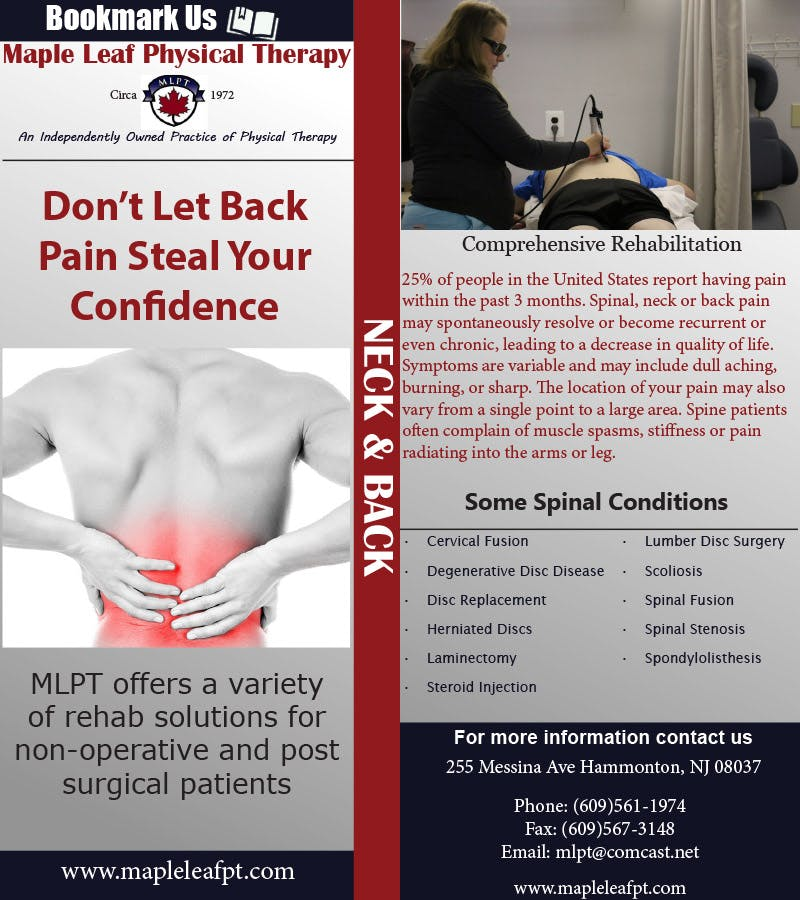 Maple Leaf Physical Therapy | Back bookmark