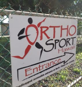 OrthoSport Entrance Sign