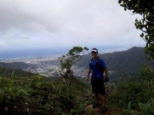 Travis Hiking a Ridge