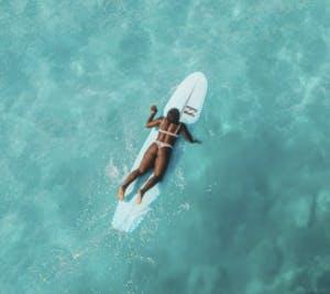 prone surfer
