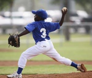 boy pitching