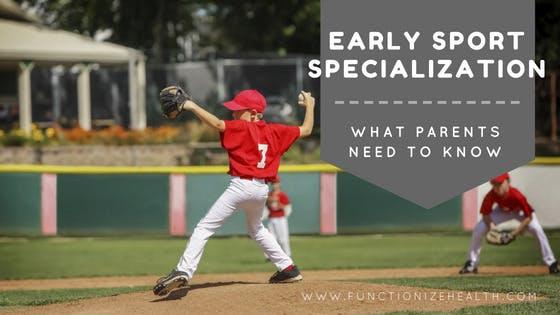 Early sports specialization baseball