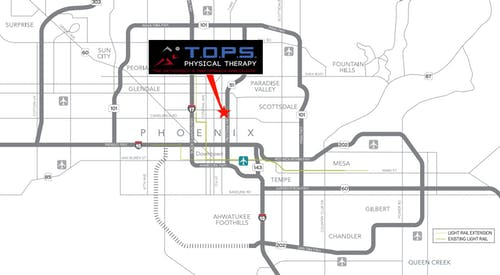 Map to T.O.P.S. Physcial Therapy /></p> <p>Our clinic location is currently open and accepting patients. Please contact business line to make an appointment.</p> <p><div><strong class=