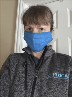 Mary in surgical mask