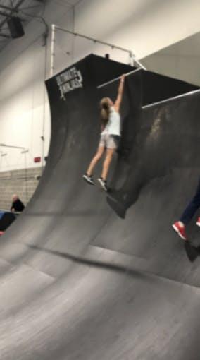 Caroline at Ninja Gym