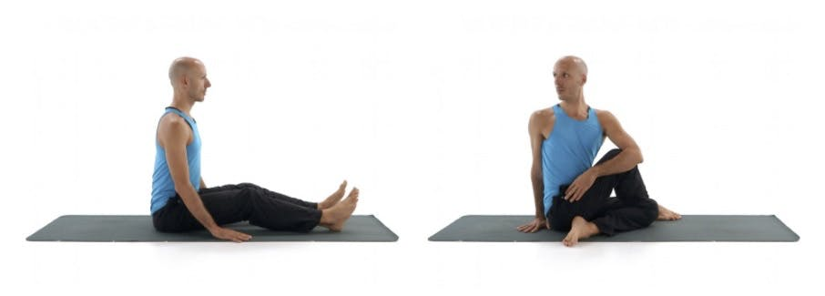 Yoga seated twist D