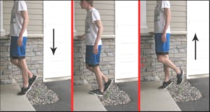 Eccentric heel drop