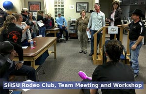 SHSU Rodeo Club, Team Meeting and Workshop