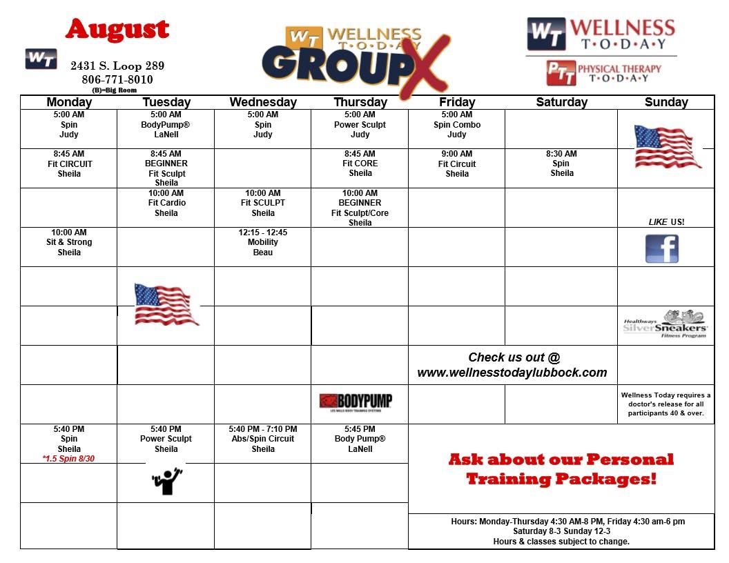 July 2021 Classes