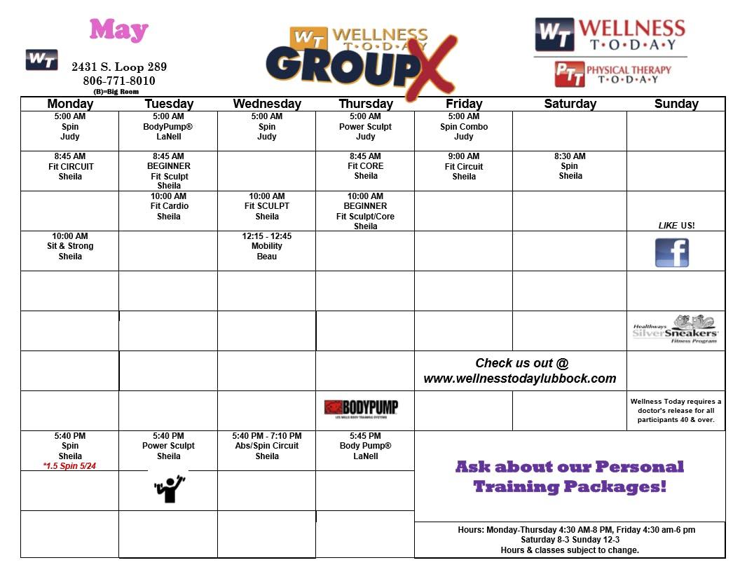 April 2021 Classes
