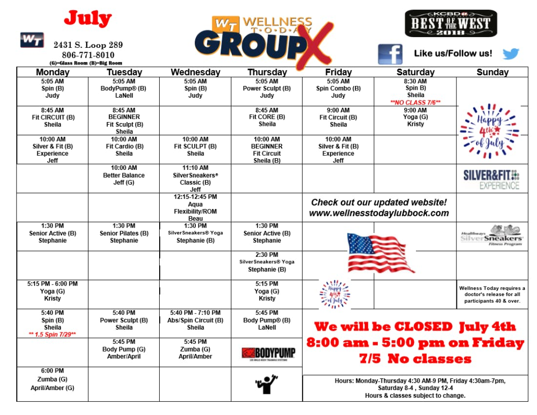 June 2019 Classes