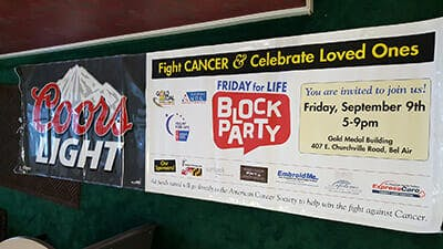 Friday for Life Block party | Gold Medal Building