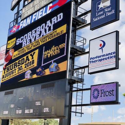 McAllen ISD Scoreboard Reveal Event