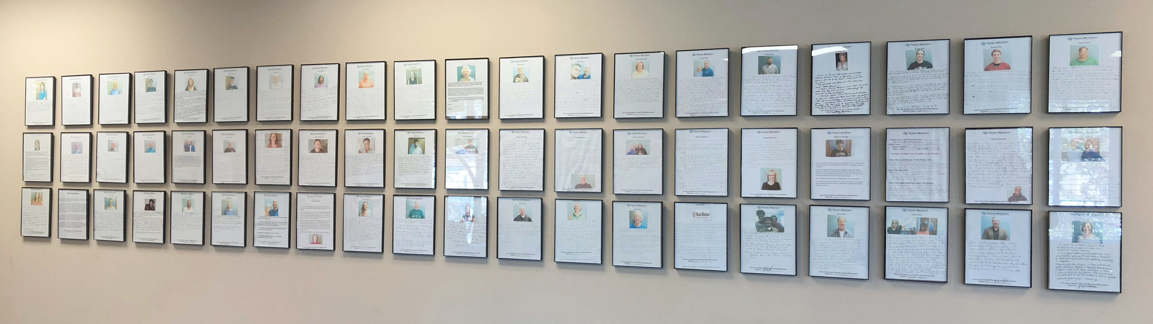 Total Motion Physical Therapy | Raleigh NC | Testimonial Wall