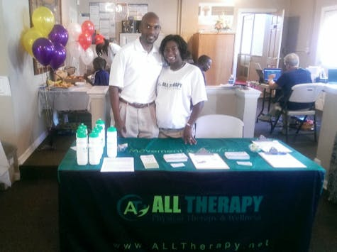Description: Photo of Middletown Chapters of Delta Sigma Theta Sorority, Inc & Omega Psi Phi Fraternity, Inc at Blood Drive & Health Fair
