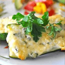 Description: Grilled Garlic Parmesan Zucchini Recipe