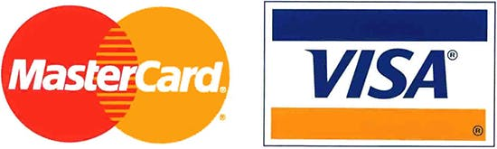 Visa/MasterCard logos