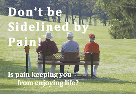 Don't be Sidelined by Pain! Find out how Anodyne Therapy Can Help.