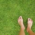 barefeet in grass