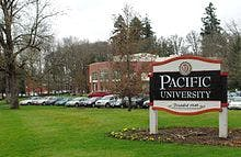 Pacific University in Forest Grove, Oregon.
