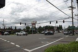 Beaverton-Hillsdale Highway and Scholls Ferry Road in Raleigh Hills.