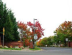 Entrance to Claremont subdivision along Bethany Blvd in Bethany Oregon.