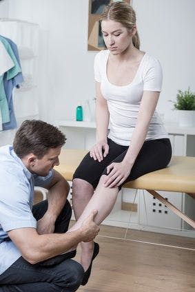 Lower leg physical therapy clinic