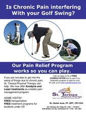 Golf Flyer - chronic pain