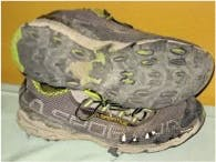 Description: worn out sneakers