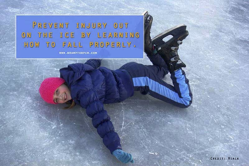 Prevent injury out on the ice by learning how to fall properly.